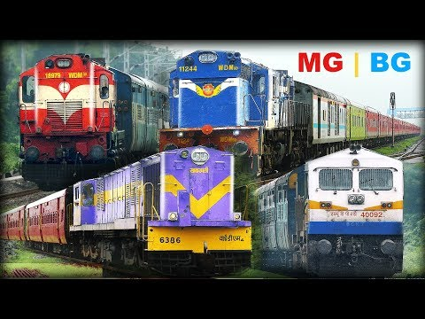 Single Line Trains | Ahmedabad - Mahesana GUJARAT | MG + BG Trains | Indian Railways