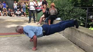 Otago's 'campus cop' beats students at push-up challenge