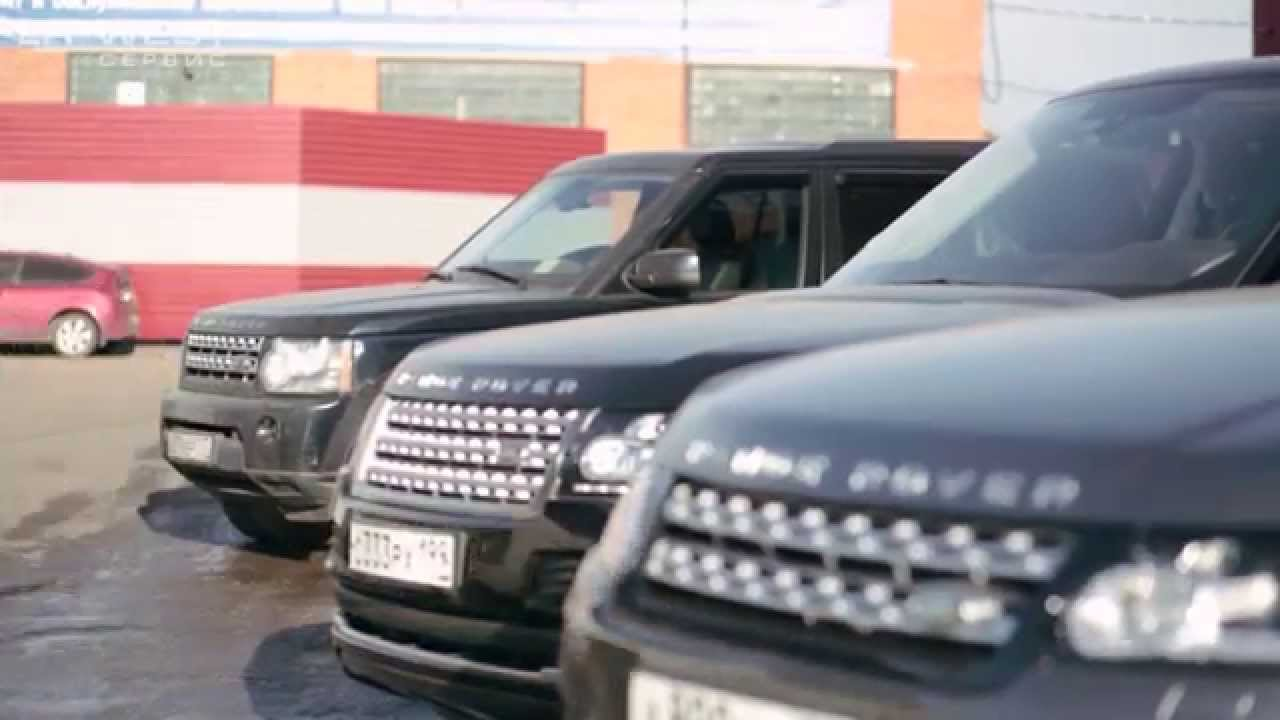 Range Rover's in Moscow - YouTube