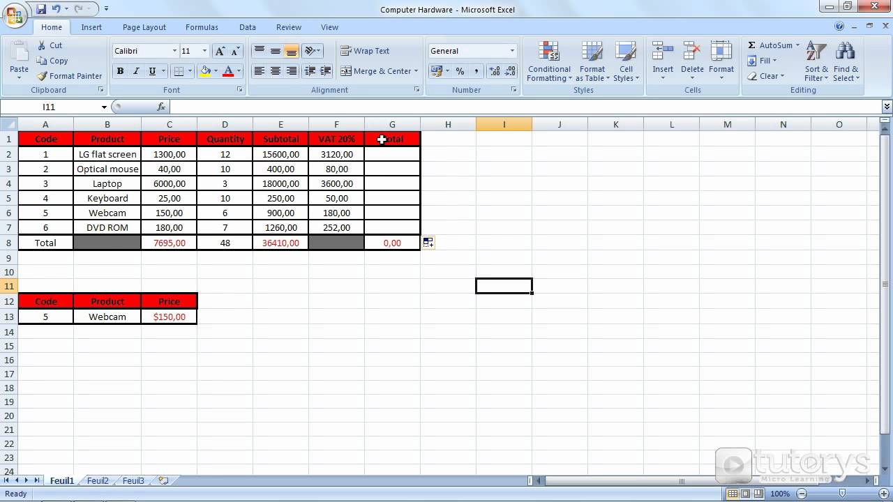 How to apply a formula to multiple rows and columns with Excel 2007?