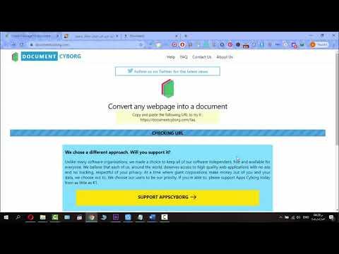 كيفية تحويل اي موقع لملف ورد او pdf حتي وان كان لايدعم النسخ