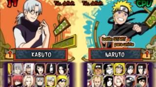 Naruto Shippuden - Ultimate Ninja 5 Todos os Personagens PCSX2