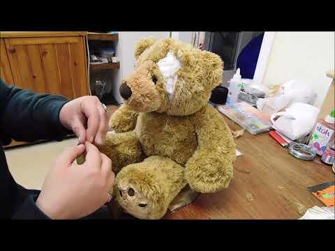 DIY gory teddy bear