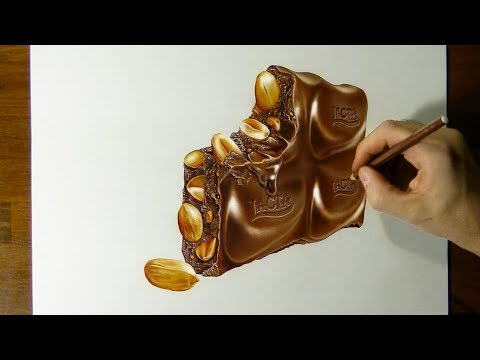 My drawing of a yummy chocolate piece