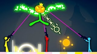 Epic NEW BOSS Battles in Stick Fight Update!  (Stick Fight Multiplayer NEW Update Gameplay)