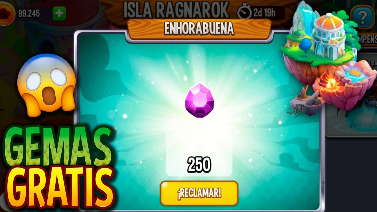 Así Gana Las 250 Gemas Gratis Isla Ragnarok Dragon City Youtube
