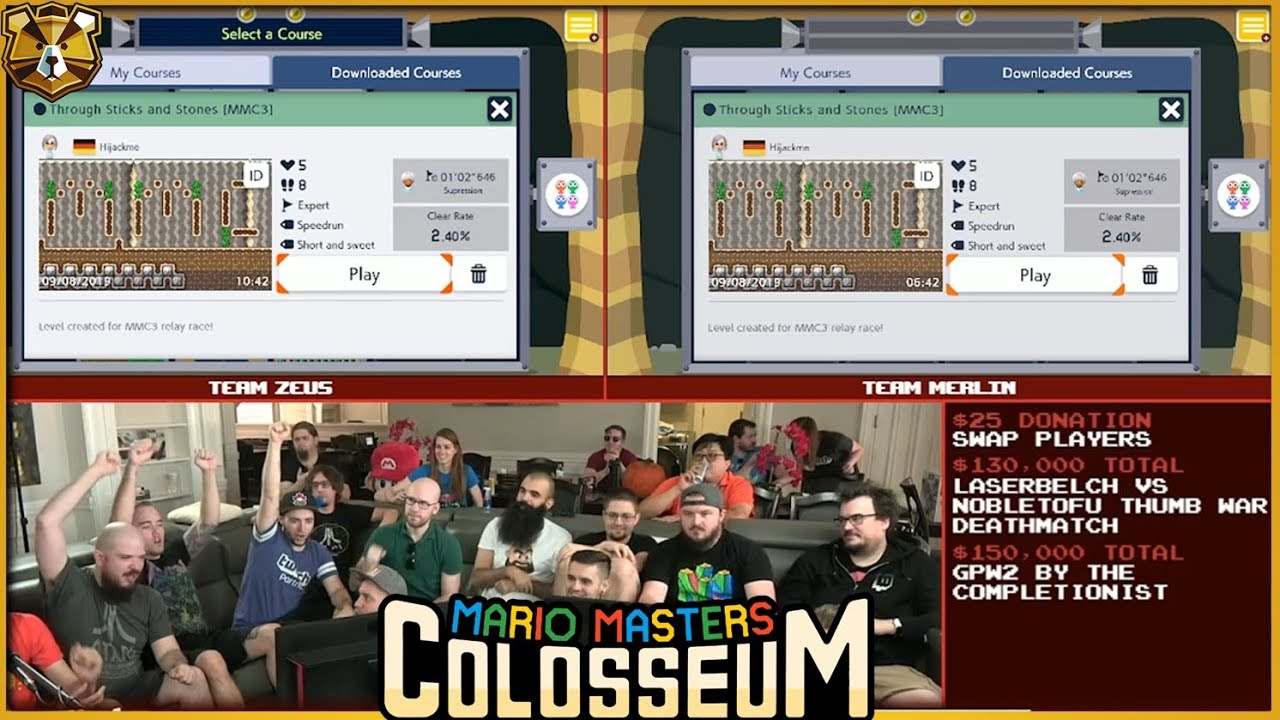 Maker 2 Blind Kaizo Relay Race With Dode, Failstream, And ThaBeast! Mario  Masters Colosseum 3