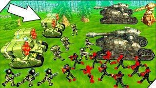 ВЕСЕЛАЯ ВОЙНА СТИКМЕНОВ - Stickman Tank Battle Simulator # 2 Игры на андроид 2018
