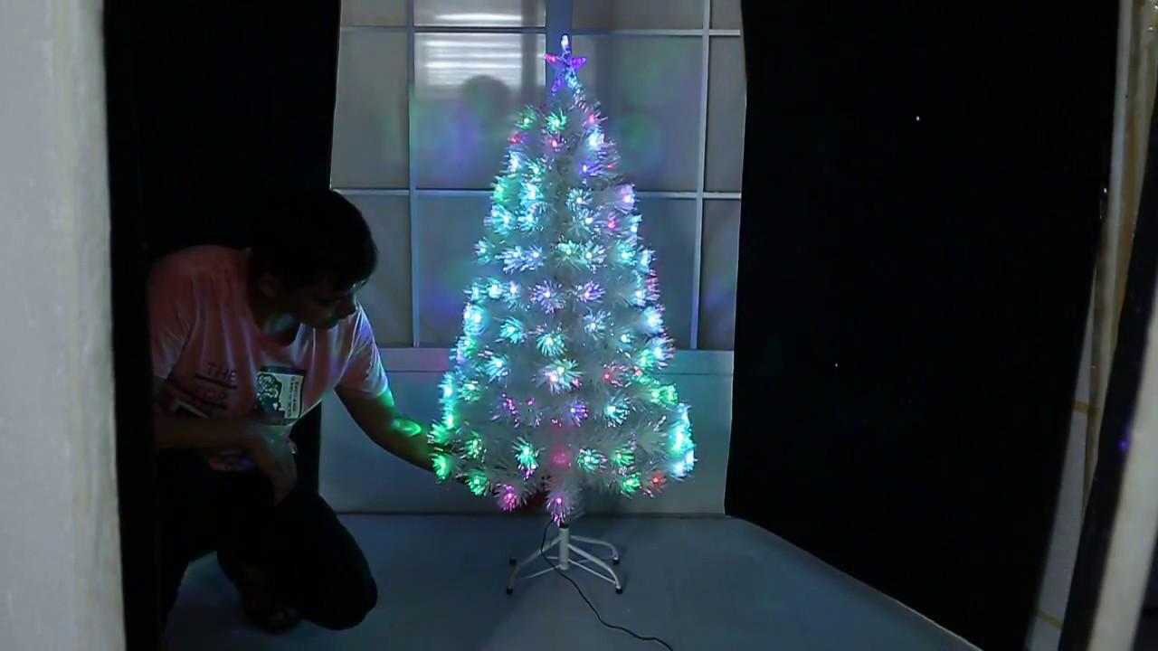 White Christmas Tree Fibre Optic & Led White 2018