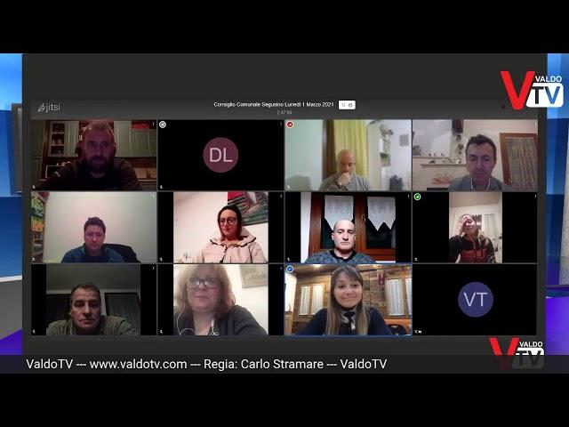 Consiglio Comunale di Segusino (TV) di lunedì 1 marzo 2021