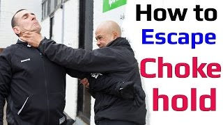 How to escape a chokehold from behind wing chun self defense Subscr...