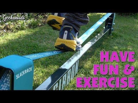 Gibbon Slacklines Slackrack Fun and Fitness for all the Family