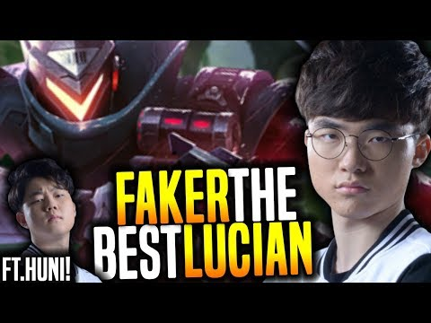 Faker Showing Why He is The Best With Lucian! - SKT T1 Faker SoloQ Playing Lucian Mid ft Huni!