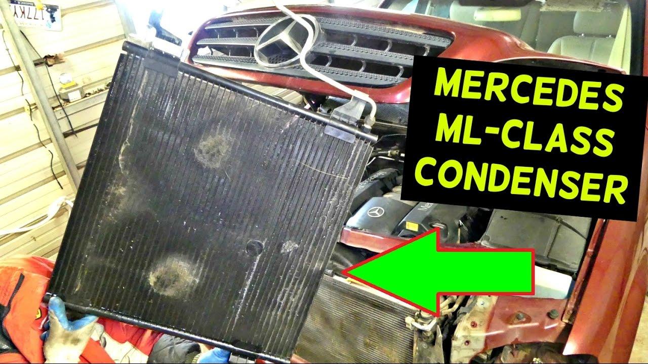 Mercedes W163 A C Condenser Replacement Removal Ml320 Ml430 Ml500 Benz 2002 Fuse Box Diagram Ml350 Ml230 Ml270