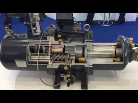 compressore semiermetico a vite hanbell || screw compressor hanbell