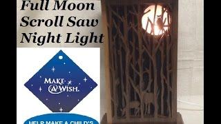 Full Moon Scroll Saw Nightlight
