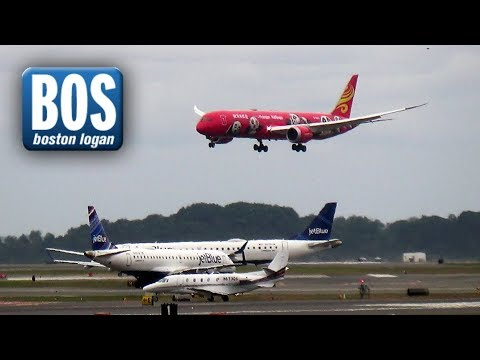 25+ Minutes of Plane Spotting at Boston Logan Int'l Airport (BOS) - B787, A350, B747 and more!
