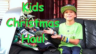 🎁WHAT I GOT FOR CHRISTMAS 2016🎅   TAYDEN 9 YEAR OLD BOY   KIDS CHRISTMAS HAUL   DYCHES FAM