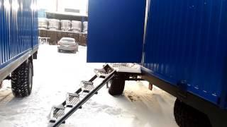 видео Купить блок-контейнер на шасси колесах от производителя