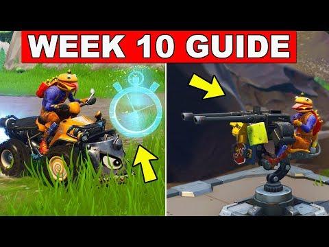 Fortnite ALL Season 6 Week 10 Challenges Guide! Fortnite Battle Royale - VEHICLE TIMED TRIALS