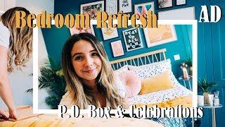 Bedroom Refresh, P.O. Box & Celebrations | AD