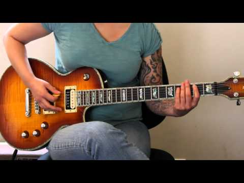 How to play Bring Me to Life by Evanescence on guitar - Jen Trani