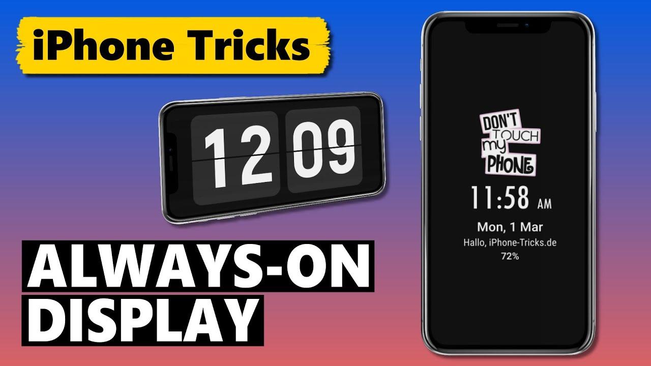 Always-On Display auf dem iPhone (als Sperrbildschirm & als Nachtuhr) 🕒📲
