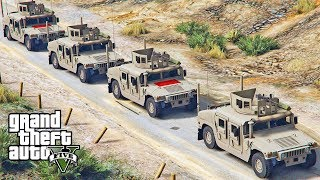 GTA 5 - BIGGEST ARMY BATTLE EVER! Military Army Patrol Episode #71 (Thanksgiving Special!)