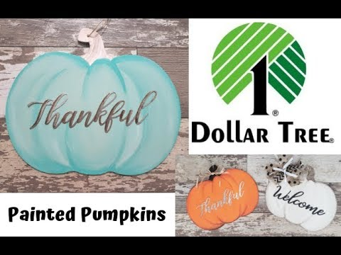 How To Paint A Dollar Tree Pumpkin Door Hanger