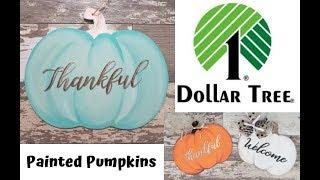 How To Paint A Dollar Tree Pumpkin Door Hanger