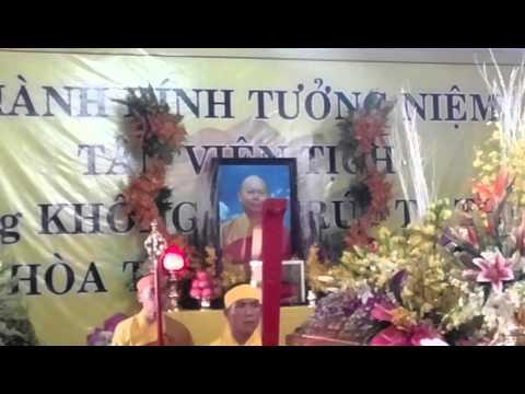Lễ tang TT Thích Không Trú