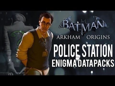 Batman Arkham Origins - Police Station - All Enigma Datapacks / Extortion Files Locations