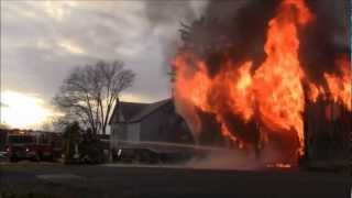 Garage Fire in Bowmanstown PA