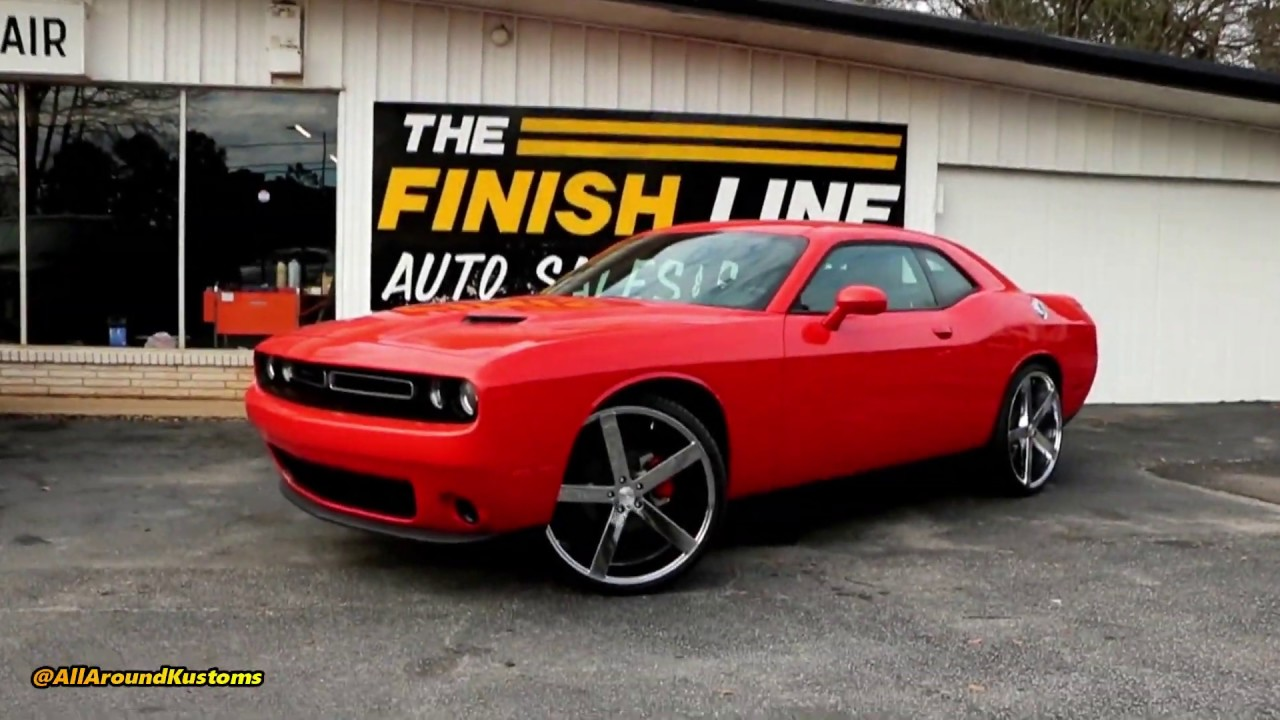 whipaddict 2017 dodge challenger, cavallo 24s and painted calipers by all around kustoms Dodge Challenger On 28