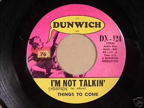 I'm not talking - Things to come mp3