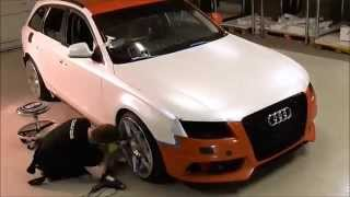Car wrap - Audi A4 satin pearl white color change