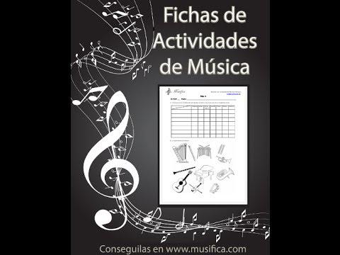 Las Fichas de Actividades en Música | Musifica
