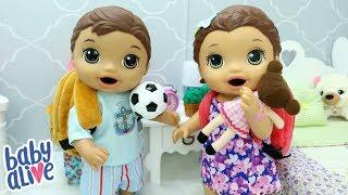 BABY ALIVE GÊMEOS FELIPINHO E LAURINHA ARRUMANDO AS MOCHILAS PRA IR PRA CASA DA VOVÓ
