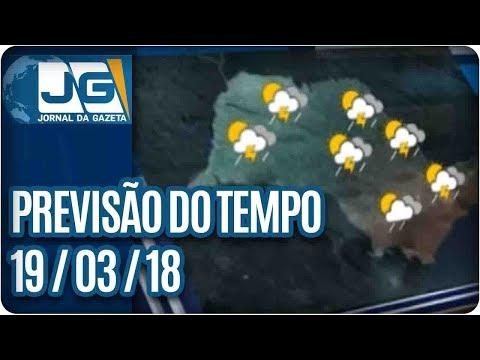 Previsão do Tempo - 19/03/2018