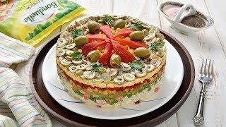 Salata in straturi pentru sarbatori (CC Eng Sub) JamilaCuisine