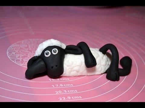 Shaun das Schaf aus Fondant modelieren / von Purze