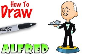 How to Draw Alfred | Teeny Titans