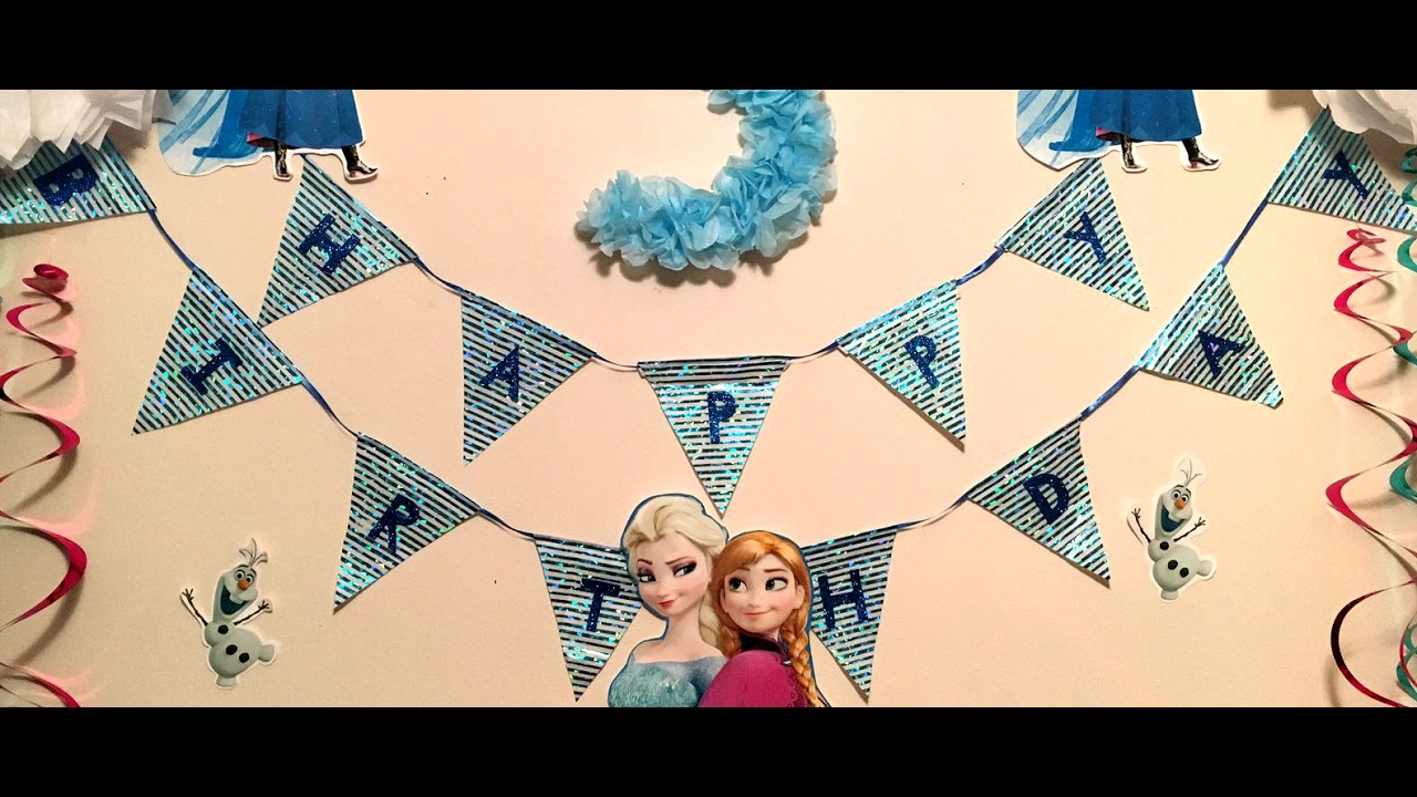 Disney Frozen Birthday Party Decor DIY 2 DIY Birthday Banner
