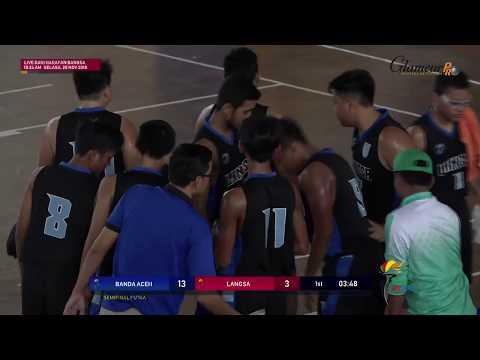 LIVE PORA XIII Bola Basket Putra Banda Aceh VS Langsa