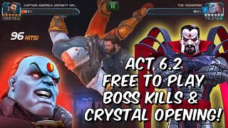 [30.23 MB] Act 6.2 Free To Play Boss Kills & Crystal Openings! - WhaleMilker27 - Marvel Contest of Champions