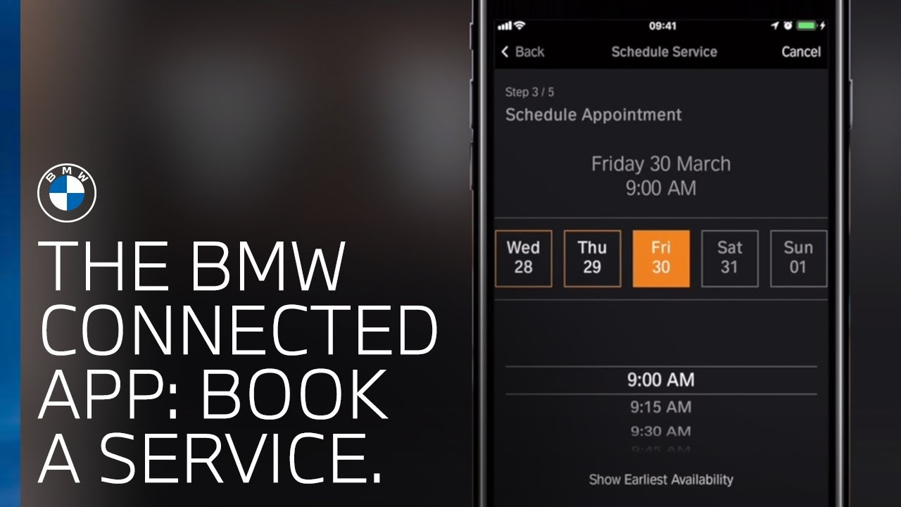 How to book a service using the BMW Connected app