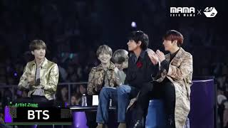 BTS reaction to BLACKPINK quot;Sure Thingquot; MAMA 2019.