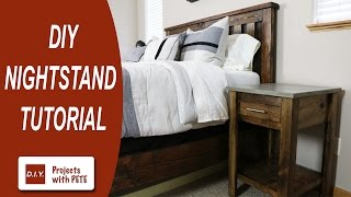 Diy Nightstand | Concrete Nightstand | How To Make A Nightstand