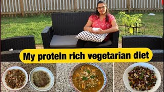 WHAT I EAT IN A DAY ? Protein rich vegetarian diet 2020.