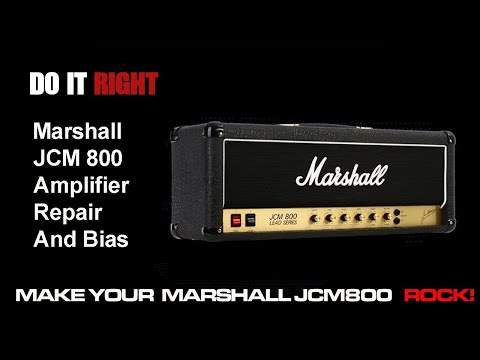 Marshall JCM 800 Tube Amplifier How To Repair/Bias By Lee Jackson
